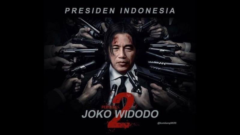 Meme Jokowi diserang menuju 2019