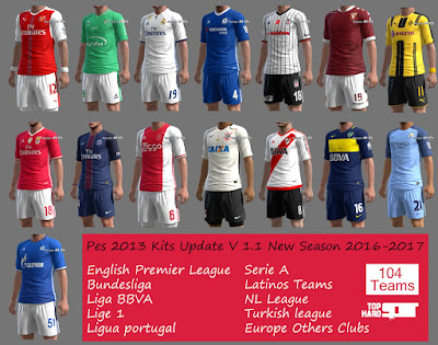 Pes 2013 New Kits Update V 1.1 New Season 2016-2017 By TopHardSoft