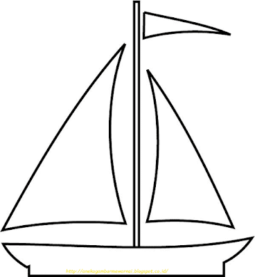 Mewarnai Gambar Kapal Laut - 11