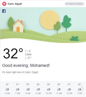 weather Facebook
