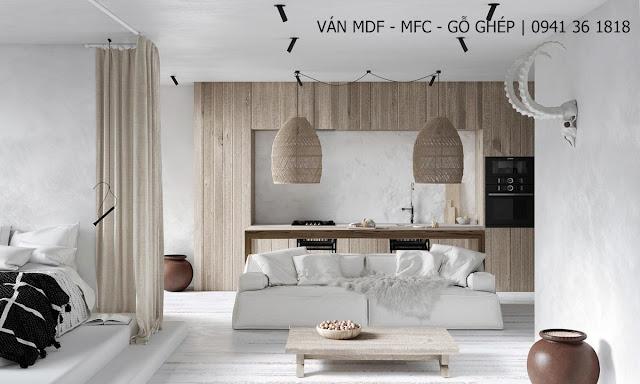 mẫu phòng khách màu trắng đẹp