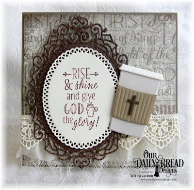 Our Daily Bread Designs Stamp Set: Risen and Shine,  Our Daily Bread Designs Custom Dies Beverage Cup, Ornamental Crosses, Ornate Ovals, Our Daily Bread Designs Paper Collections: Vintage  Ephemera, Ephemera Essentials