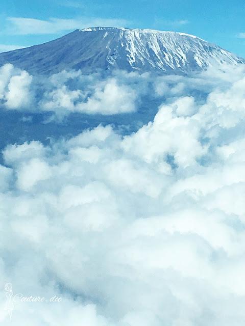 góra, chmury