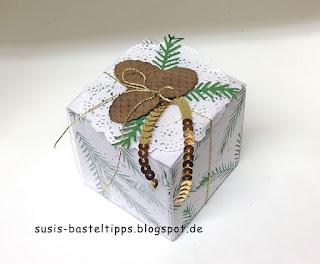 weiße Geschenkschachtel von Stampin Up!