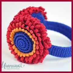 Orejeras flor crochet
