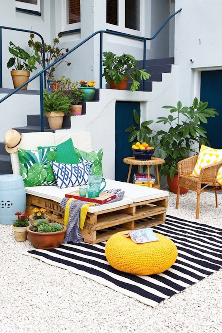 terraza lowcost con palets