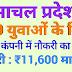 हिमाचल प्रदेश में 290 युवाओ के लिए निजी कम्पनी में नौकरी का अवसर
