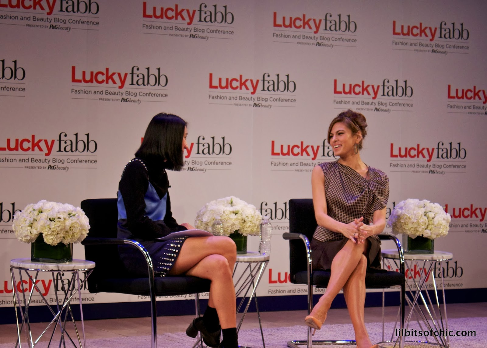 eva mendes at Lucky Fabb