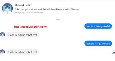 Membuat Bot AutoReply Pesan diFanspage Facebook