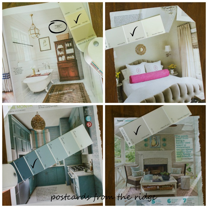 Great tips for choosing paint colors and what NOT to do! Postcards from the Ridge