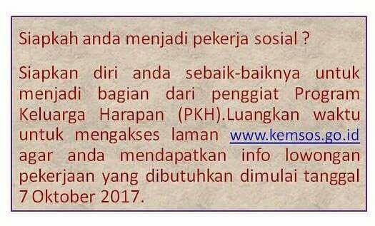Lowongan 16.092 SDM PKH Kementerian Sosial