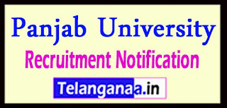 Panjab University Recruitment Notification 2017