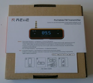 Transmisor FM estéreo Reiie B09