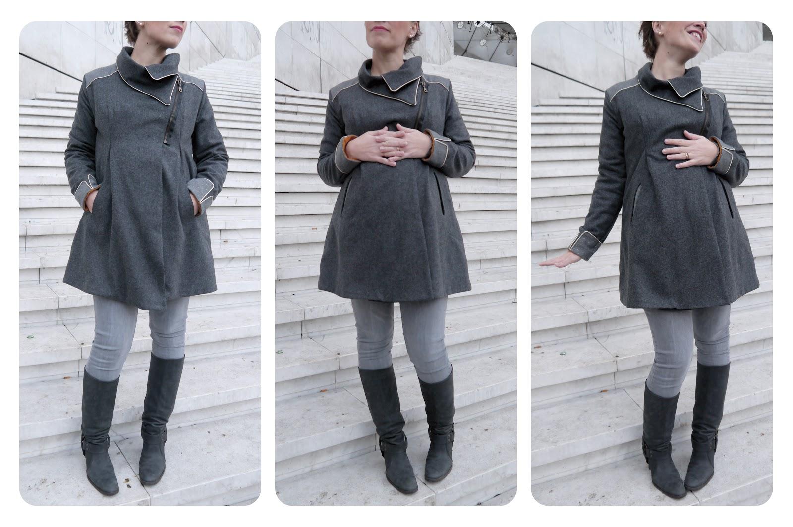patron couture manteau femme enceinte. Black Bedroom Furniture Sets. Home Design Ideas