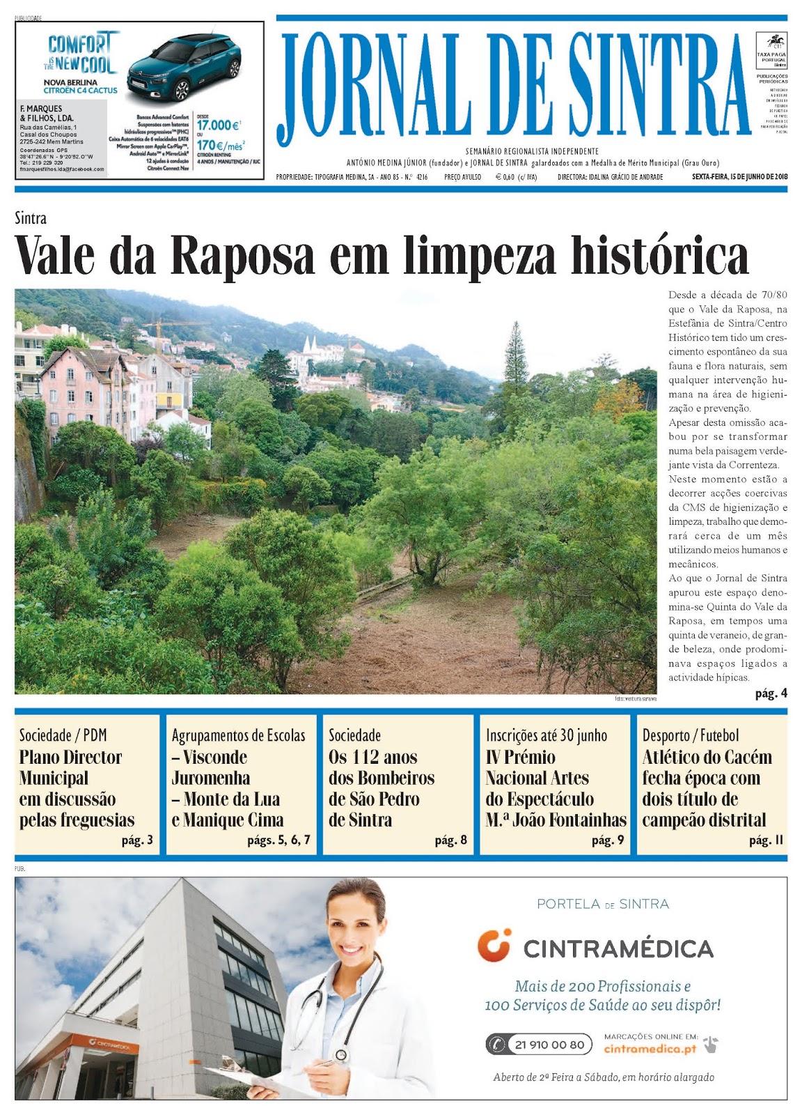 Capa da edição de 15-06-2018