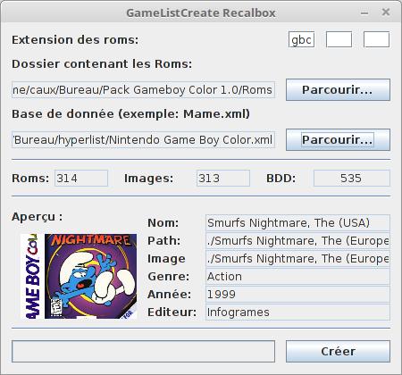 [SOFT] GameListCreate: créez vos gamelist.xml hors ligne Gamelistcreate2