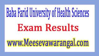 Baba Farid University of Health Sciences M.Sc Nursing IInd Year 2016 MJ-2k16/4 Exam Results