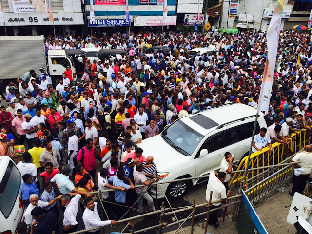 JO holding rally in Nugegoda