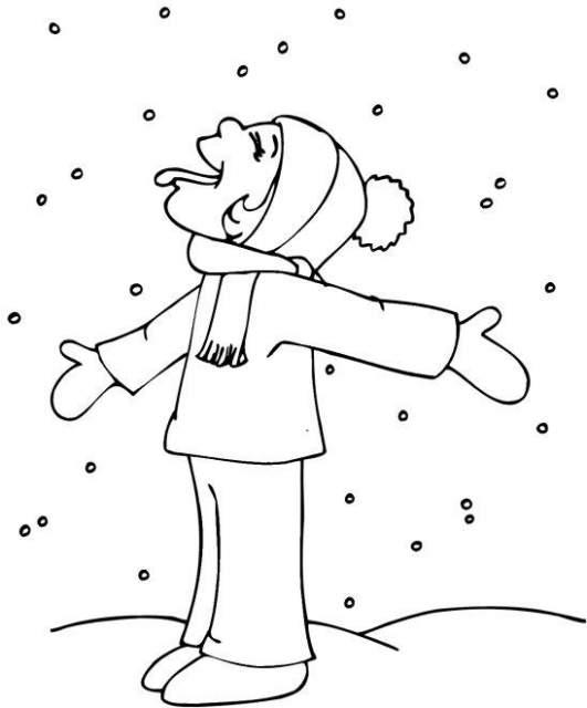 colorear dibujos de invierno