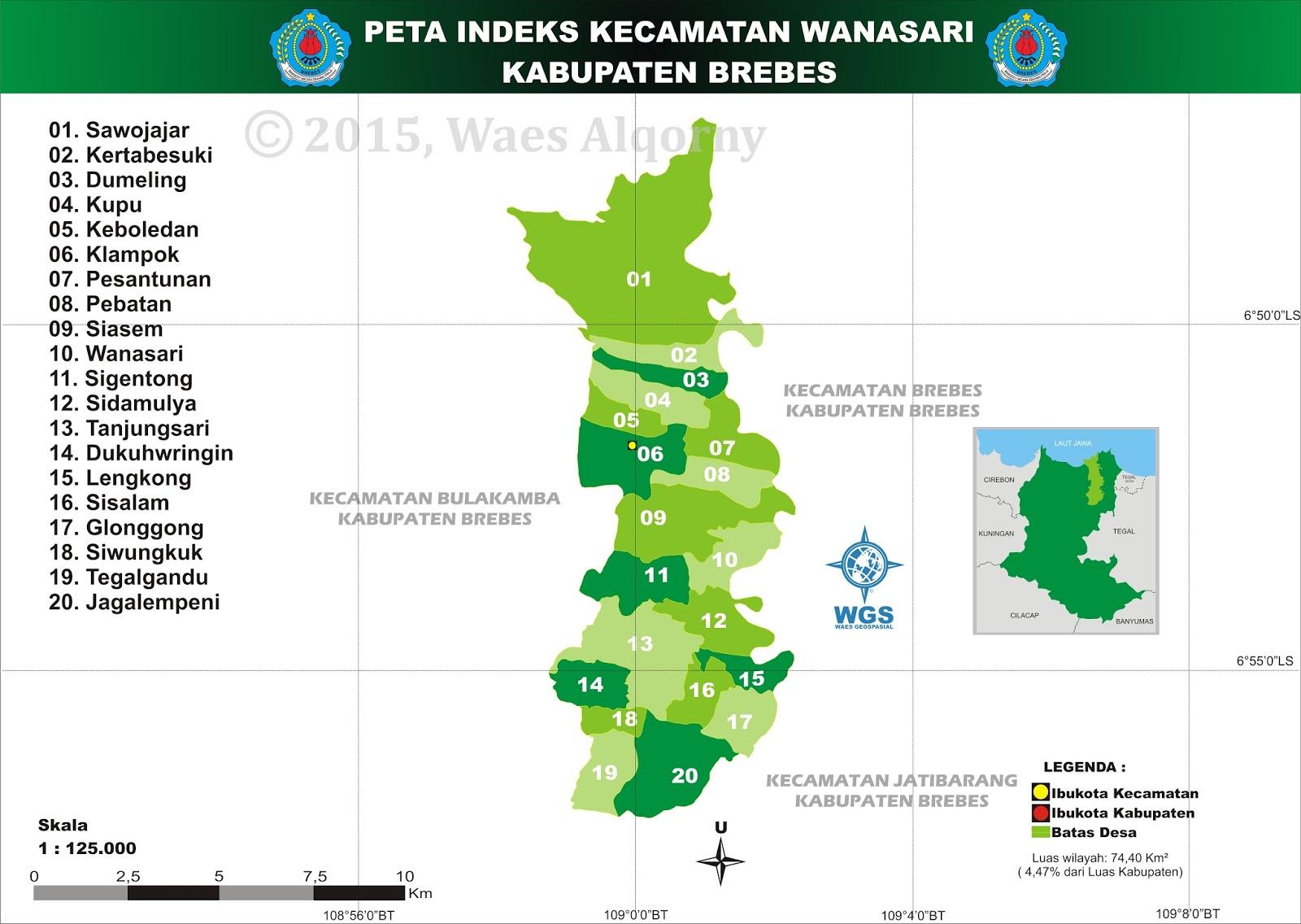 Peta Indeks Kecamatan Wanasari - Brebes - My Diary