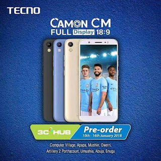 Tecno Camon CM With 3000mah Battery -  Specifications and Price