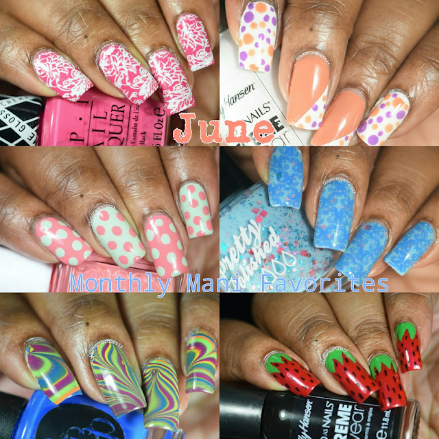 June 2016 Monthly Mani Favourites