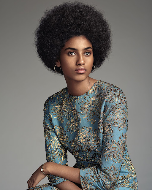 Imaam Hammam afro for Vogue