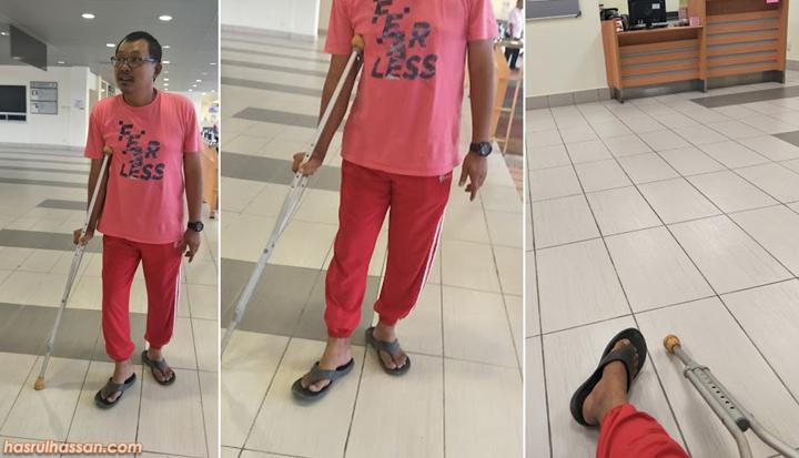Tumit kaki saya didakwa retak semasa jalani pemeriksaan di Pusat Kesihatan Presint 18