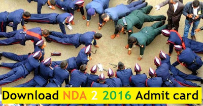 Download NDA 2 2016 Admit Cards