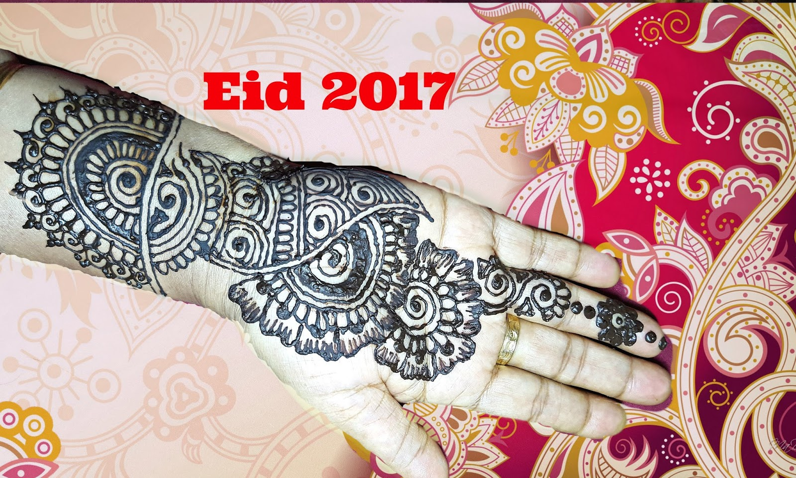 easy mehndi designs for hands step by step for eid