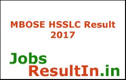 MBOSE HSSLC Result 2017