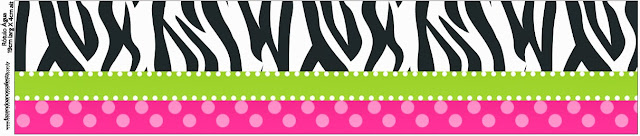 Zebra and Pink Free Printable Candy Bar Labels.