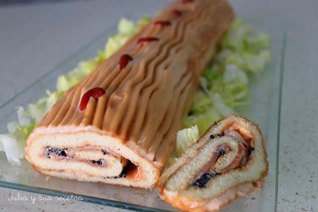 Brazo de salmón. Julia y sus recetas