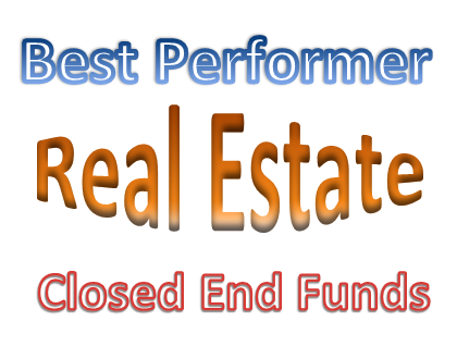 Top Performing Real Estate Closed End Funds August 2013