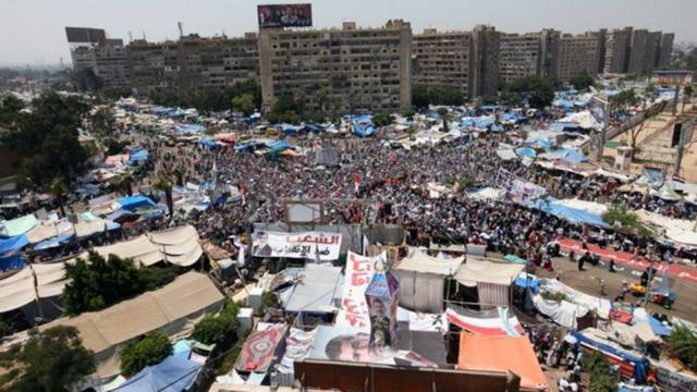 For the Morsi protest, the punishment of hundreds of people in Egypt