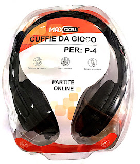 cuffie maxexcell gaming per ps4 xbox