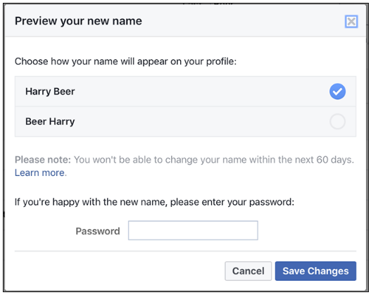 How Do I Change My Name On Facebook Account
