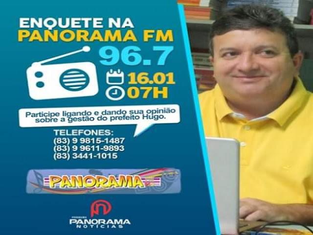 Prefeito Joaquim Hugo foi aprovado com grande maioria na enquete realizada hoje em programa radiofônico