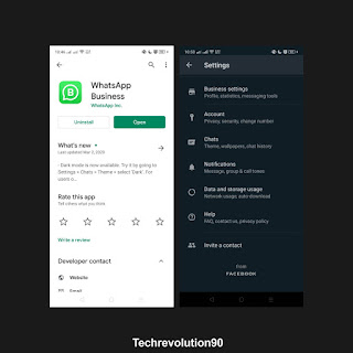 Whatsapp Business Dark Theme