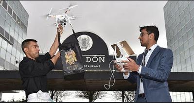 Restoran di Inggris Menggunakan Drone Untuk Layanan Delivery