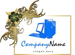تحميل تصميم شعار للحاسوب مفتوح للفوتوشوب, Computer Logo Design Download