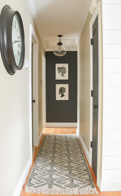 High contrast decorated hallway