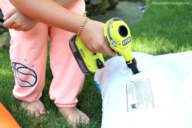 inflating pool float with ryobi high power inflator