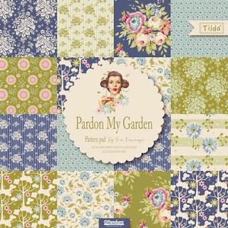 Tilda Pardon My Garden  (balíček 42 látok 12,5cmx12,5cm)