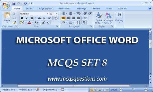 ms office mcqs set 8
