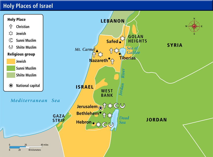 Online Maps Holy Places Of Israel