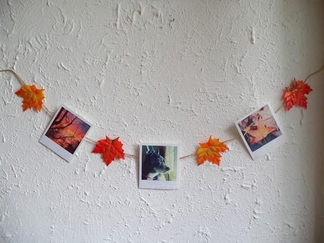DIY Leaf Garland / DIY Polaroid Garland