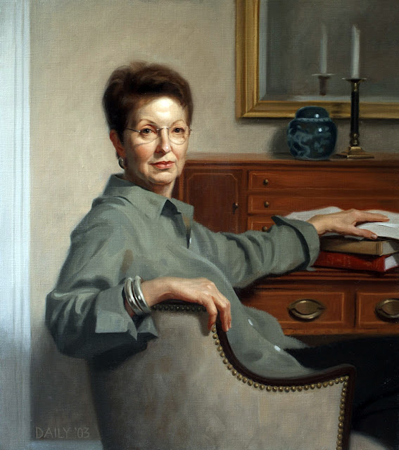 Portrait of Ruthie Bair, Joseph Daily, International Art Gallery, Portrait Fine Arts, American Painters