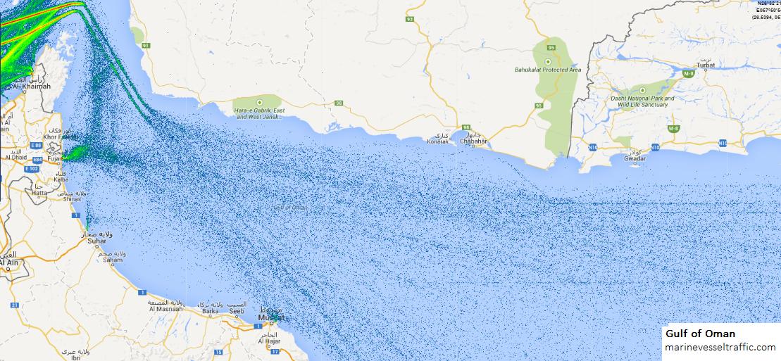 GULF OF OMAN SHIP TRAFFIC | Ship Traffic