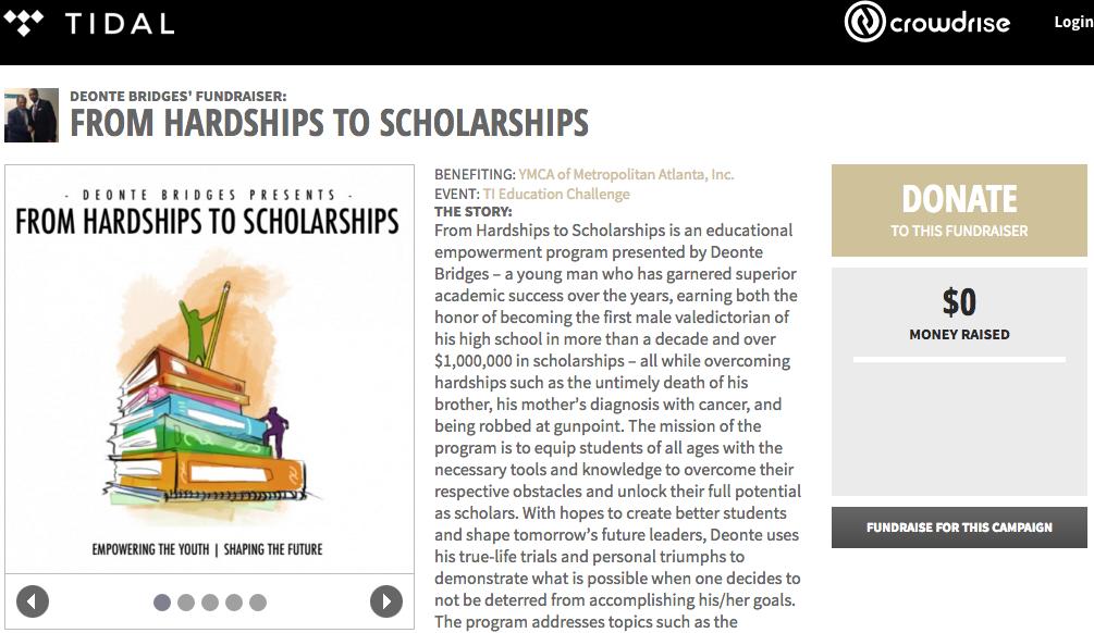 hardship scholarship